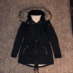 Hollister navy winter coat